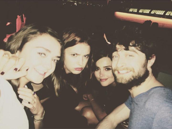 Maisie Williams, Jenna Coleman, Hannah Murray y Daniel Radcliffe en la Comic-Con 2015