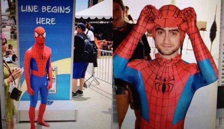 Daniel Radcliffe como Spider-Man en la Comic-Con 2014