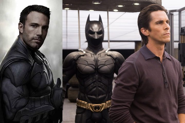 Los dos actores en sus respectivos roles