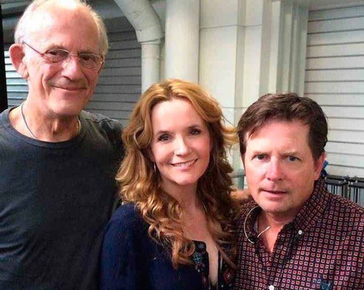 Christopher Lloyd, Michael J. Fox y Lea Thompson 30 años después del estreno de 'Regreso al futuro'