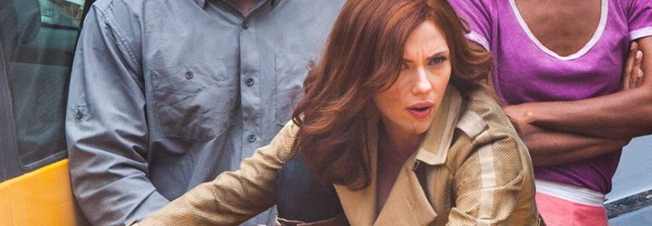 Scarlett Johansson en el set de rodaje