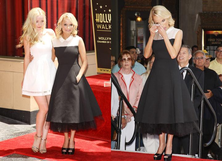 Kristin Chenoweth durante la ceremonia de entrega de su estrella en el Paseo de la Fama de Hollywood