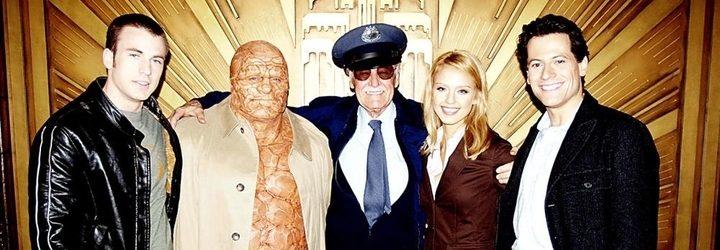 Stan Lee y el antiguo reparto de la saga