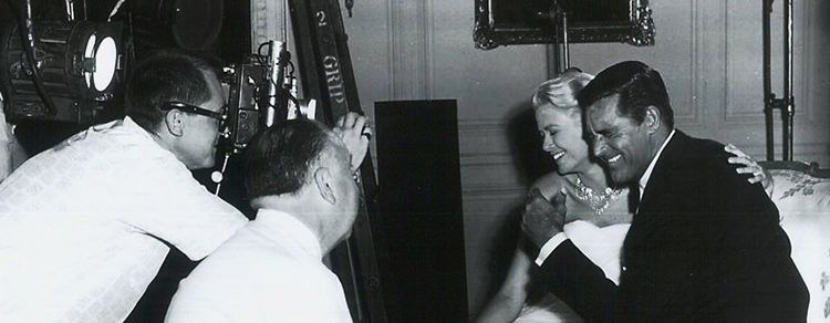 Rober Burke, Alfred Hitchcock, Grace Kelly y Cary Grant