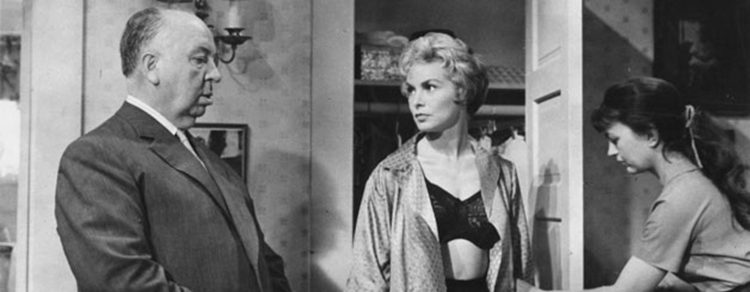 Alfred Hitchcock y Janet Leigh