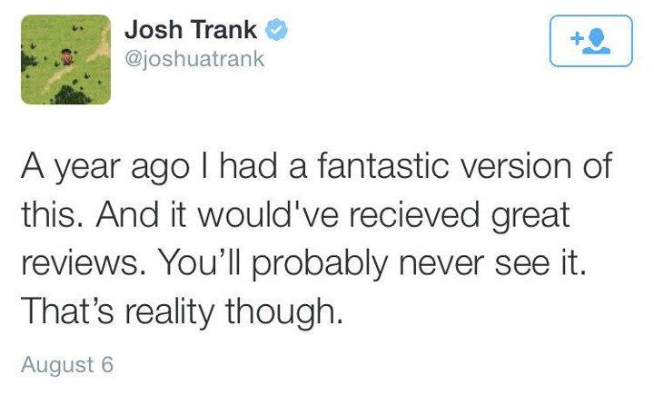 Tweet de Josh Trank 'Cuatro Fantásticos'