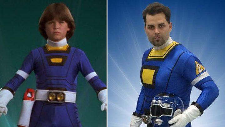 Blake Foster como Blue Ranger