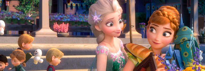 Elsa y Anna en un fotograma de 'Frozen Fever'