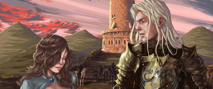 Retrato de Lyanna Stark y Rhaegar Targaryen