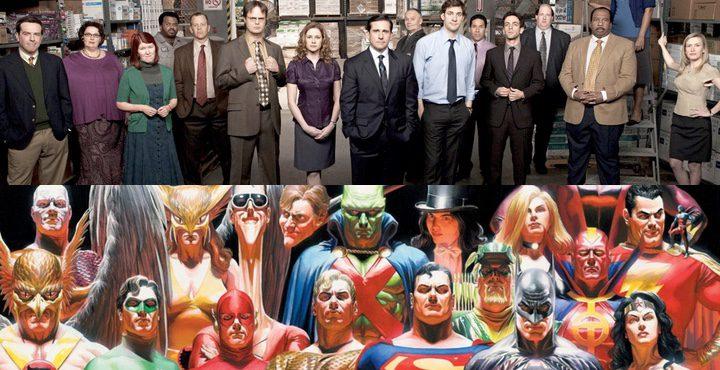 Personajes de 'The Office' y de DC Comics