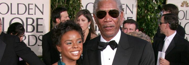 Morgan Freeman y su nieta E'Dena Hines