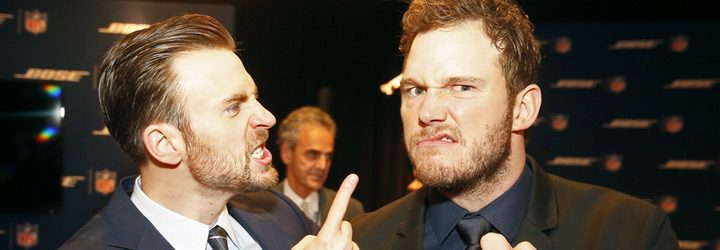 Chris Pratt y Chris Evans