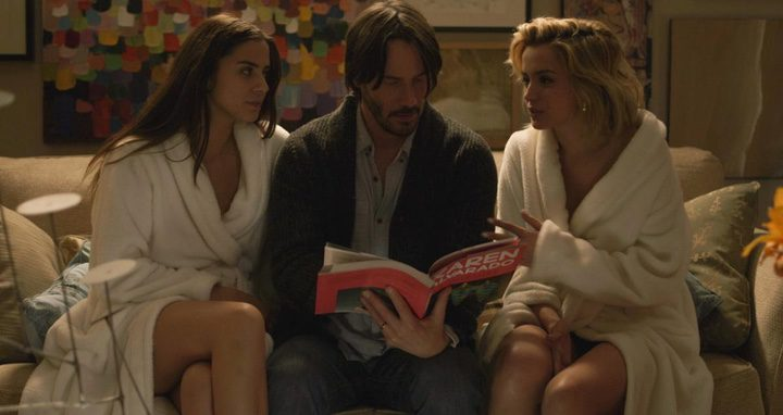 Lorenza Izzo, Keanu Reeves y Ana de Armas