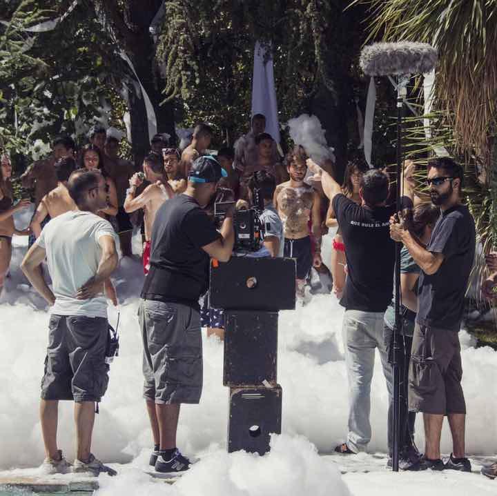 Rodaje de la película 'Como la espuma'