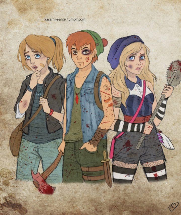 Así serían los personajes de Disney en el universo de 'The Walking Dead'