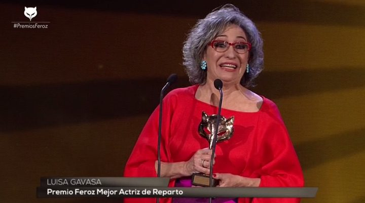 Luisa Gavasa, Premio Feroz 2016 a la mejor actriz de reparto