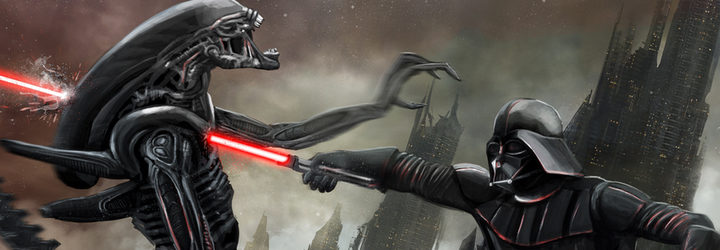 mash up de 'Star Wars' y 'Alien'