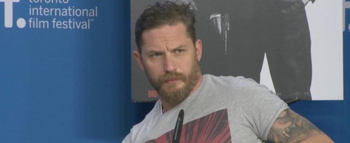 Tom Hardy durante la rueda de prensa
