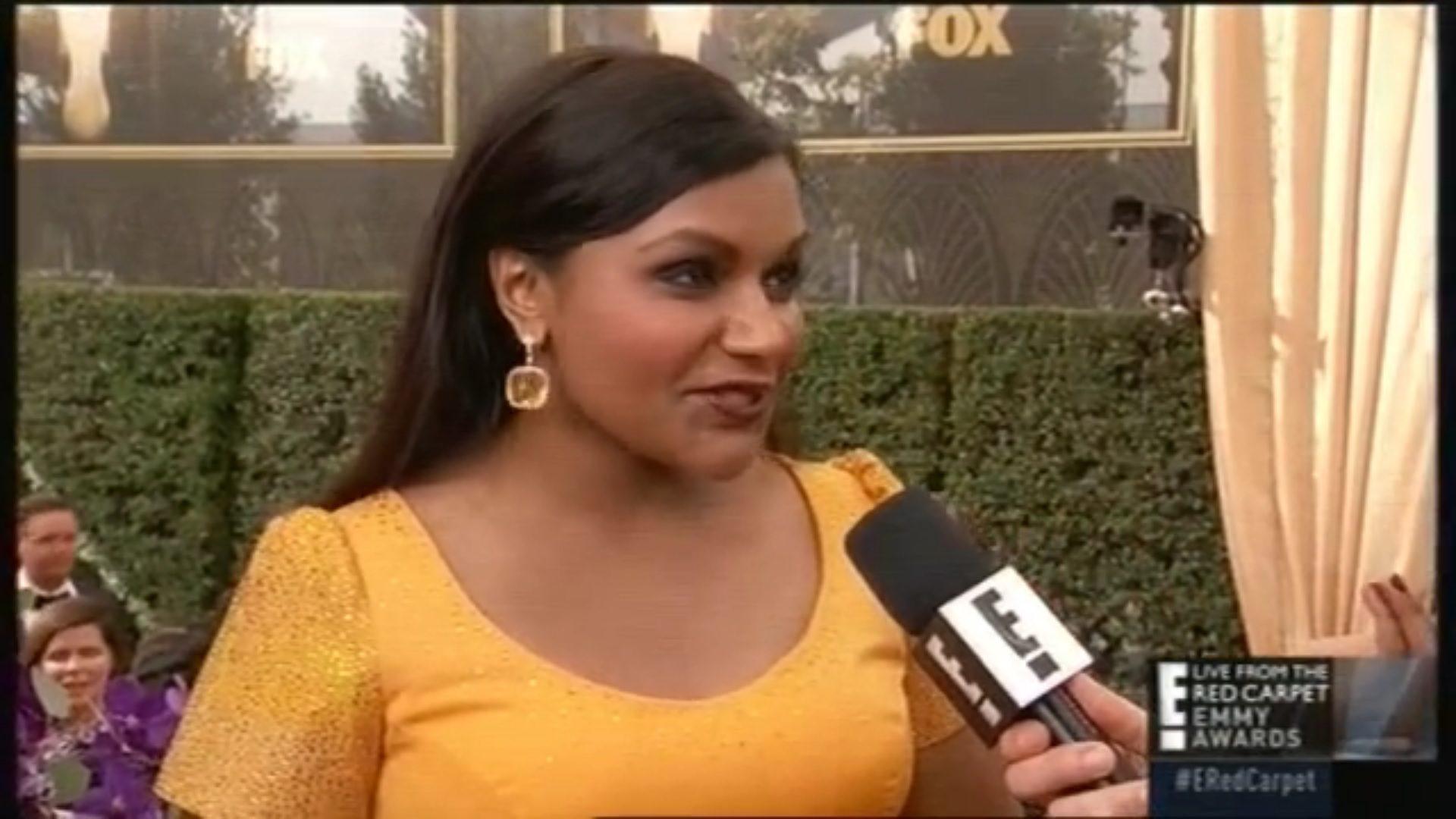 Mindy Kaling en los Emmys 2015