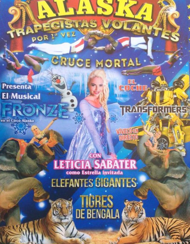 Leticia Sabater como Elsa en el Gran Circo Alaska