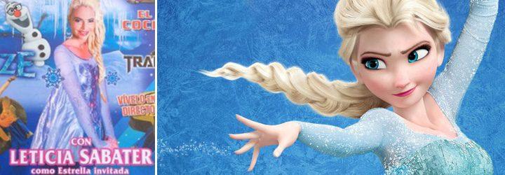 Leticia Sabater y elsa de 'Frozen'