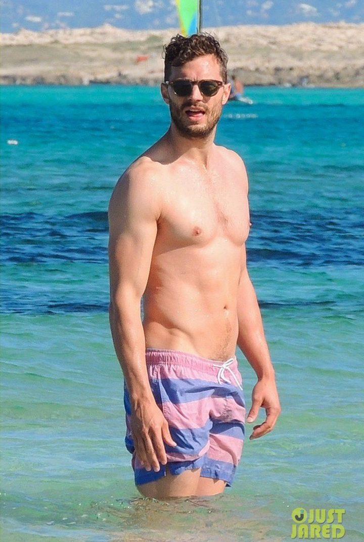Jamie Dornan bajo el sol de Ibiza