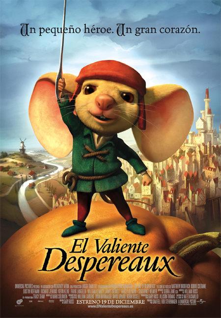Carteles en castellano y catalán de 'El valiente Despereaux'