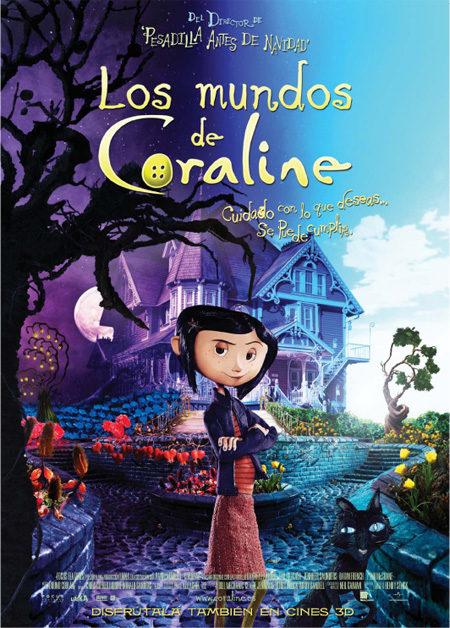 Resultado de imagen de los mundos de coraline poster castellano