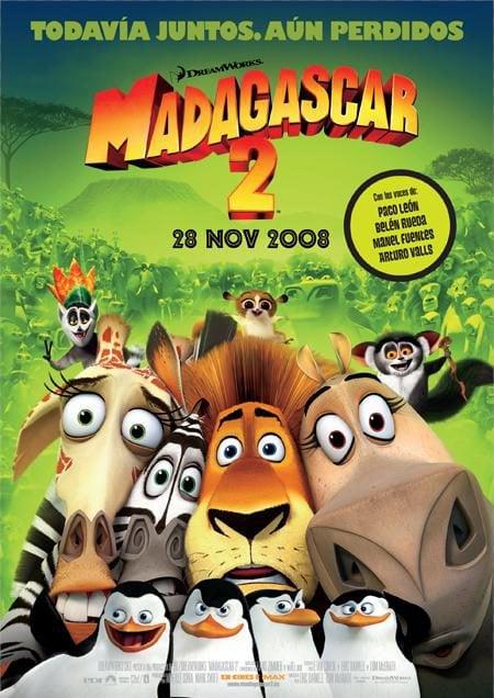 Cartel definitivo en castellano para 'Madagascar 2'