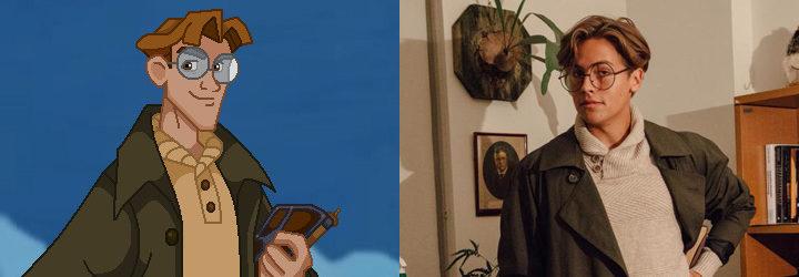 'Atlantis: El imperio perdido' y Cole Sprouse de Milo Thatch
