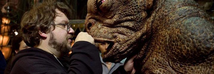 Guillermo del Toro en el set de 'La cumbre escarlata'