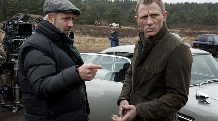 Sam Mendes y Daniel Craig durante el rodaje de 'Spectre'