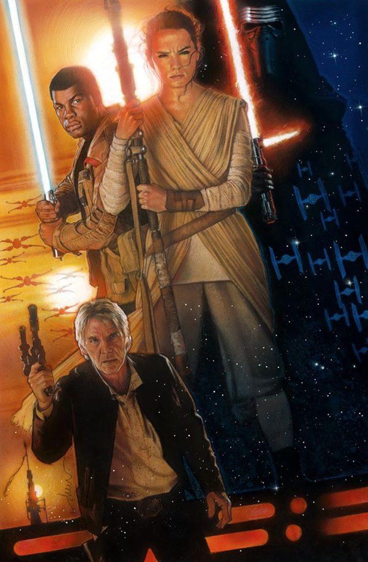 Poster de Drew Struzan para Star Wars: El despertar de la fuerza