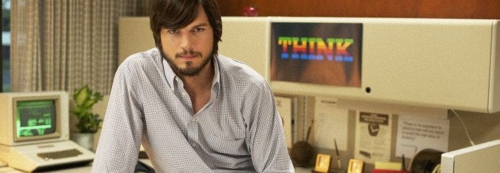 Imagen promocional de Ashton Kutcher en 'Jobs'