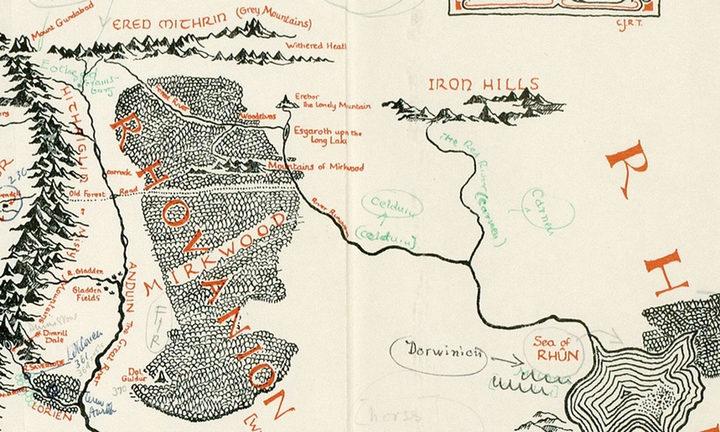 Mapas 'El señor de los anillos'