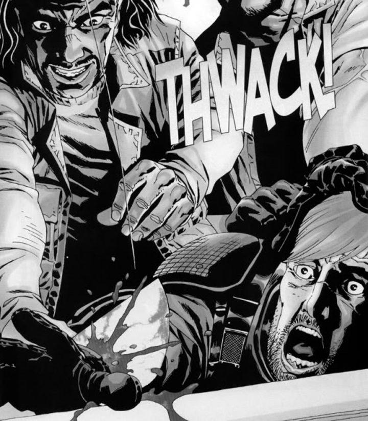 El Gobernador corta la mano de Rick en el cómic de 'The Walking Dead'