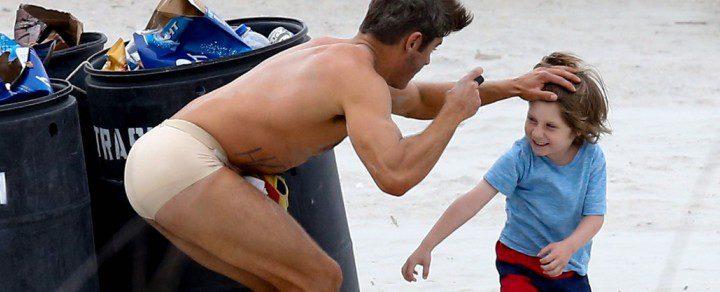 Zac Efron semi desnudo durante el rodaje de 'Dirty Grandpa'