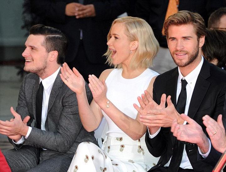 Jennifer Lawrence y los protagonistas de 'Los Juegos del Hambre'