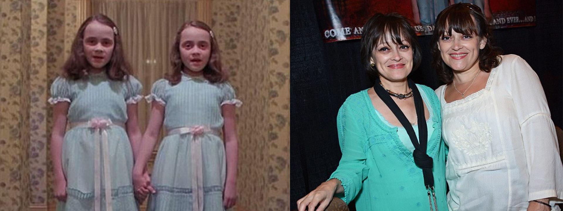Las gemelas de 'El resplandor', antes y ahora
