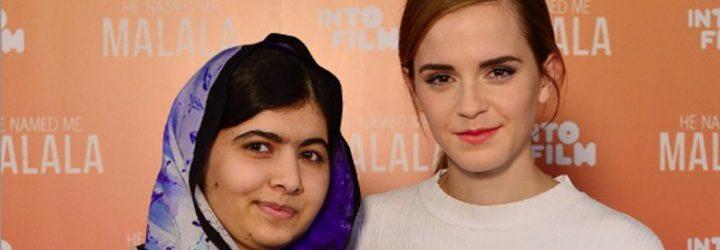 Malala Yousafzai y Emma Watson