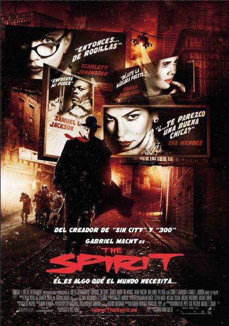 Cartel definitivo en español de 'The Spirit'