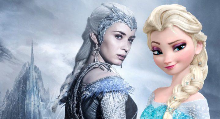 Emily Blunt y Elsa de Frozen