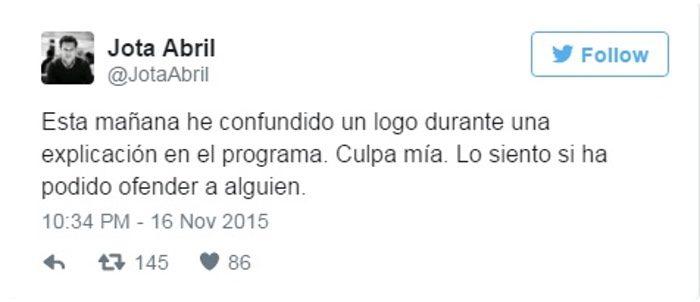 tweet Jota Abril