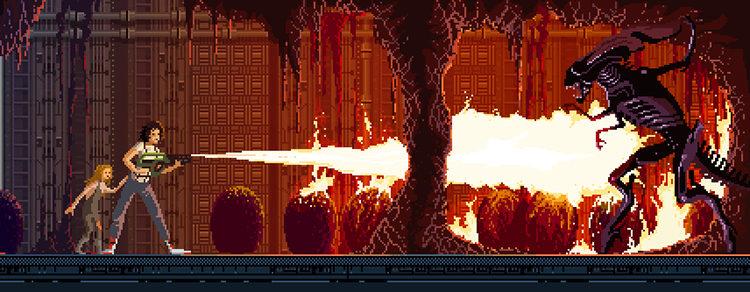 'Alien' en Pixel Art