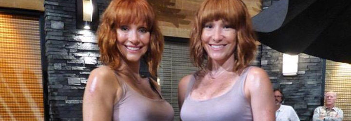 Bryce Dallas Howard y su doble en 'Jurassic World'