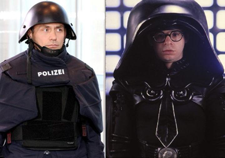 Policía alemana y 'La loca historia e las galaxias'