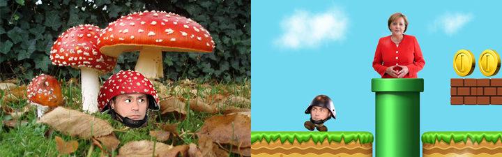 Policía alemana y Super Mario