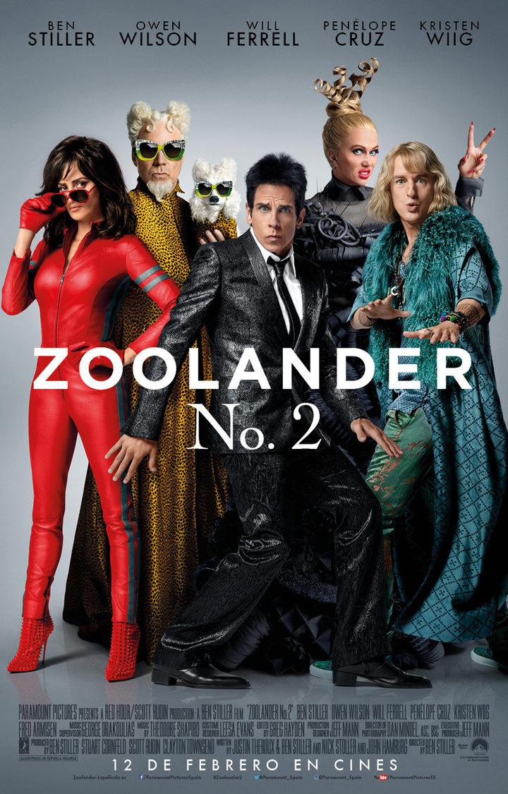 Póster español oficial de 'Zoolander 2'