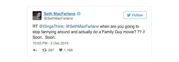 Tuit de Seth MacFarlane