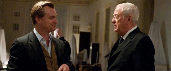 Michael Caine y Christopher Nolan